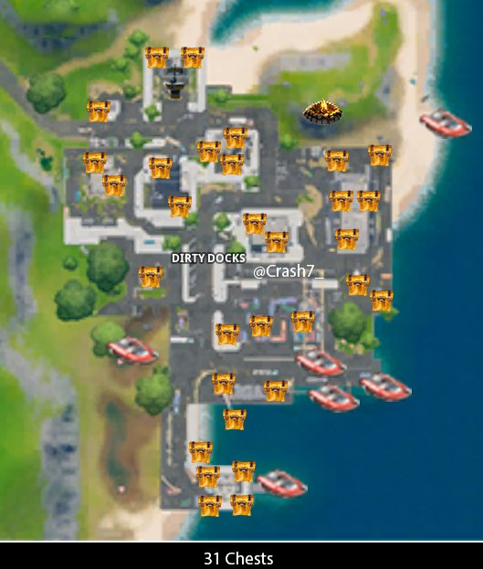 Dirty docks chest locations